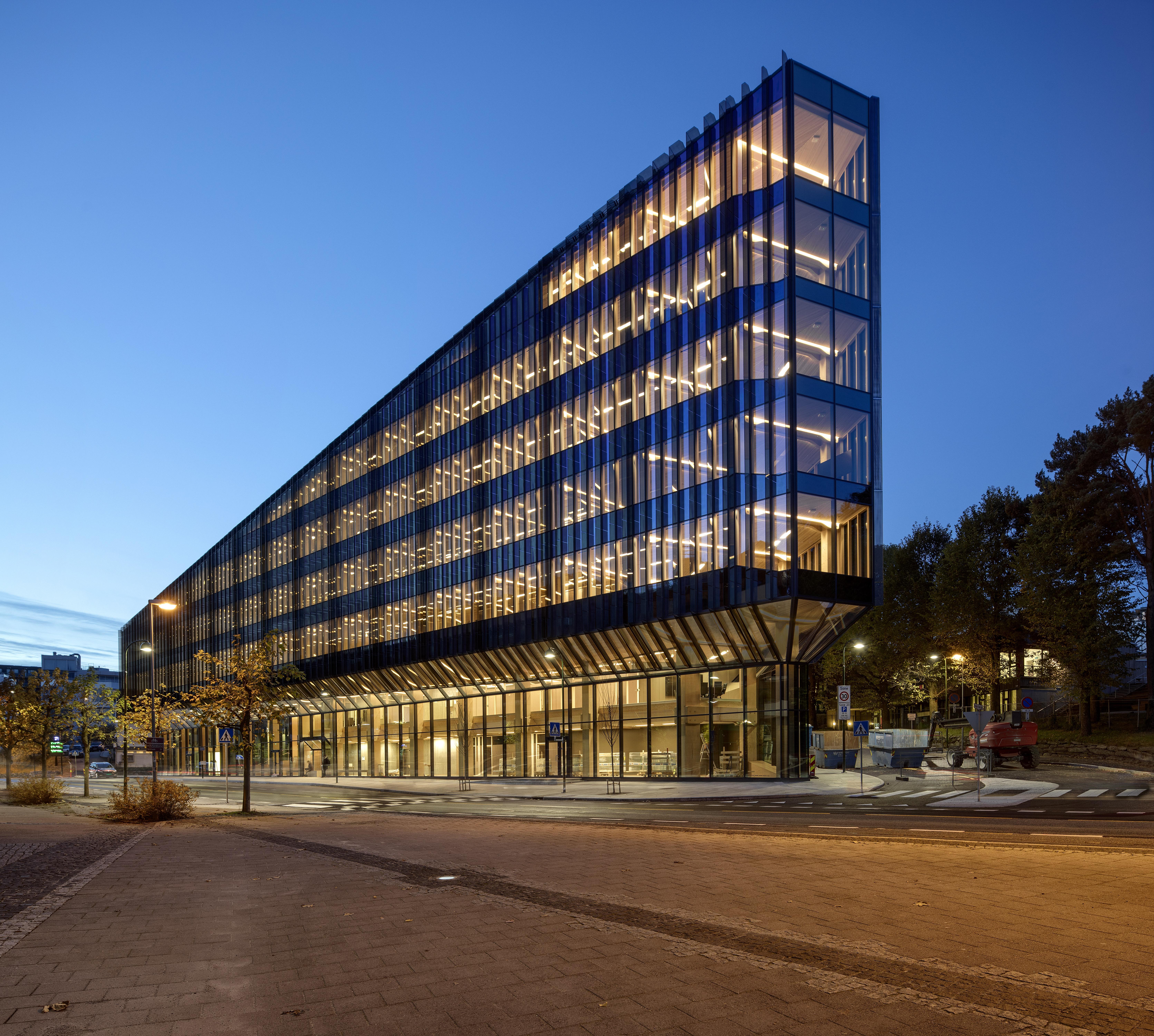 glassfasader Finansparken i Stavanger