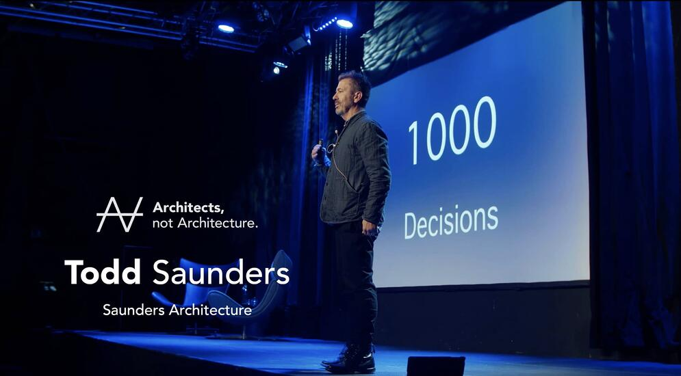 Architects, not Architecture video med Todd Saunders